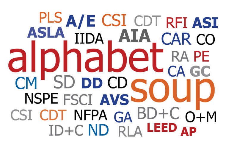 The Alphabet Soup of Architecture
