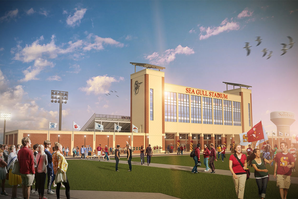 Groundbreaking of Sea Gull Stadium at Salisbury University