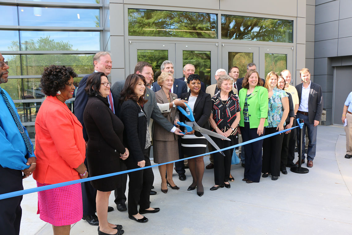 Ribbon Cutting Ceremony of Mathematics & Science Hall at CCBC