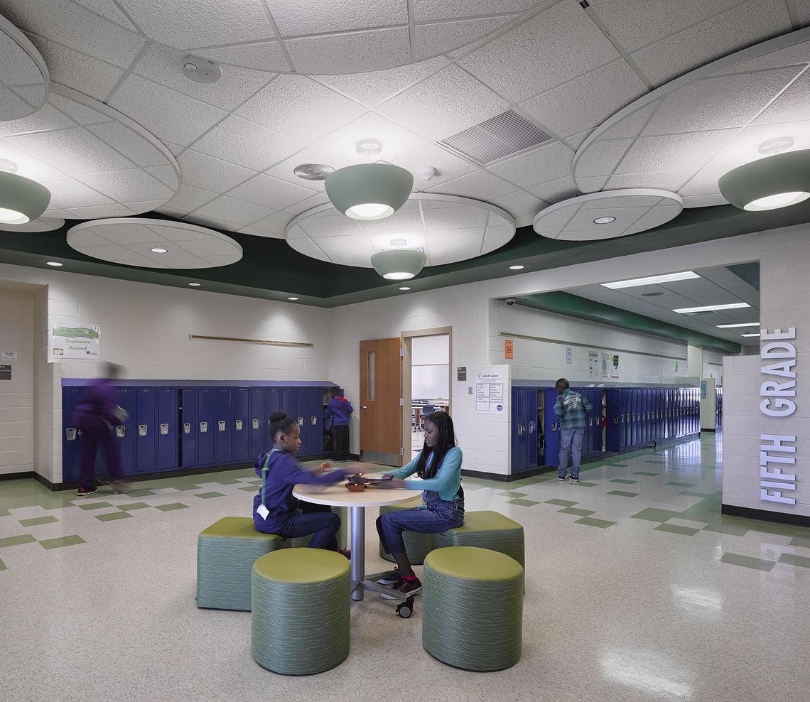 School Interior Design: Lyons Mill Elementary School