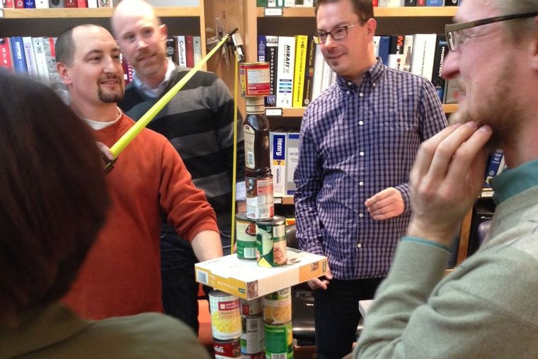 Employees Take Part in National Canned Food Month