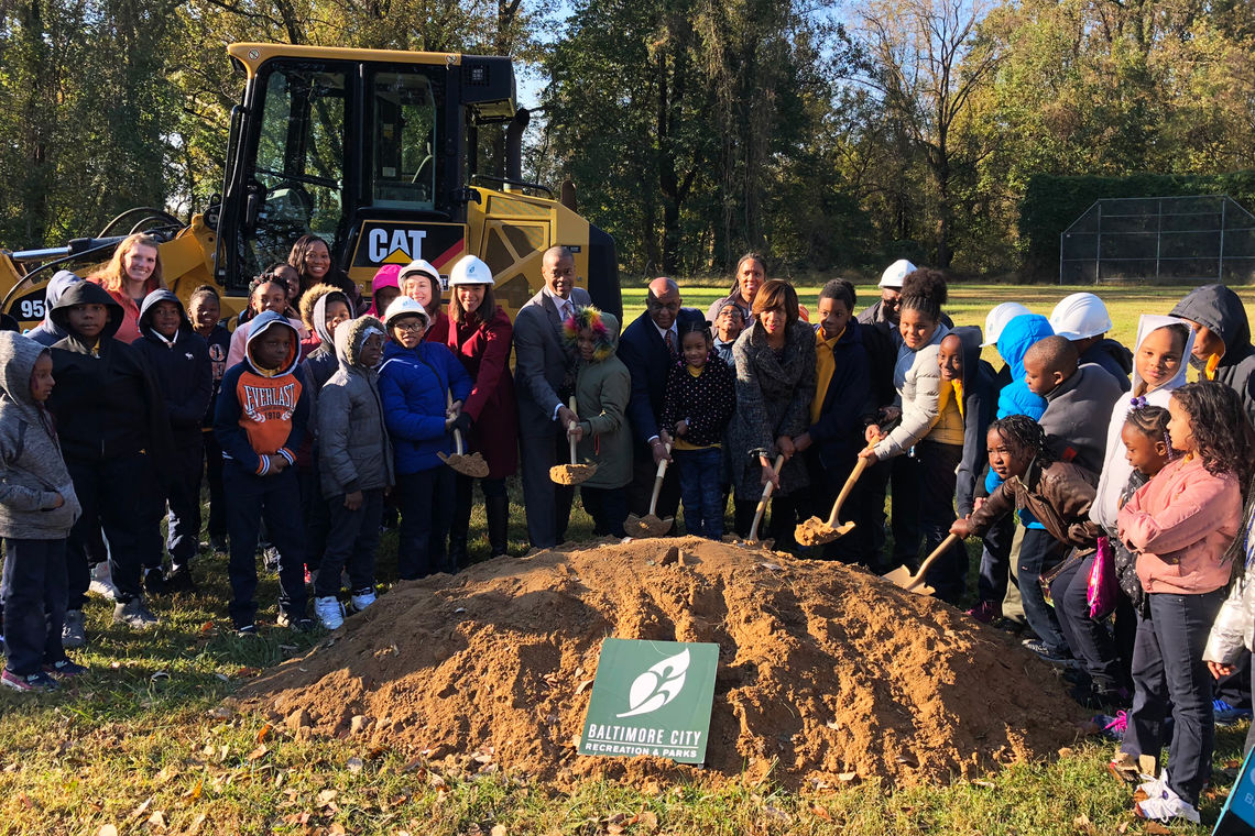 Groundbreaking Ceremony of Baltimore City's Cahill Fitness & Wellness Center