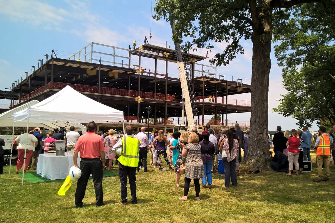 Topping Out Ceremony of CCBC's Carol Diane Eustis Center for Health Professions