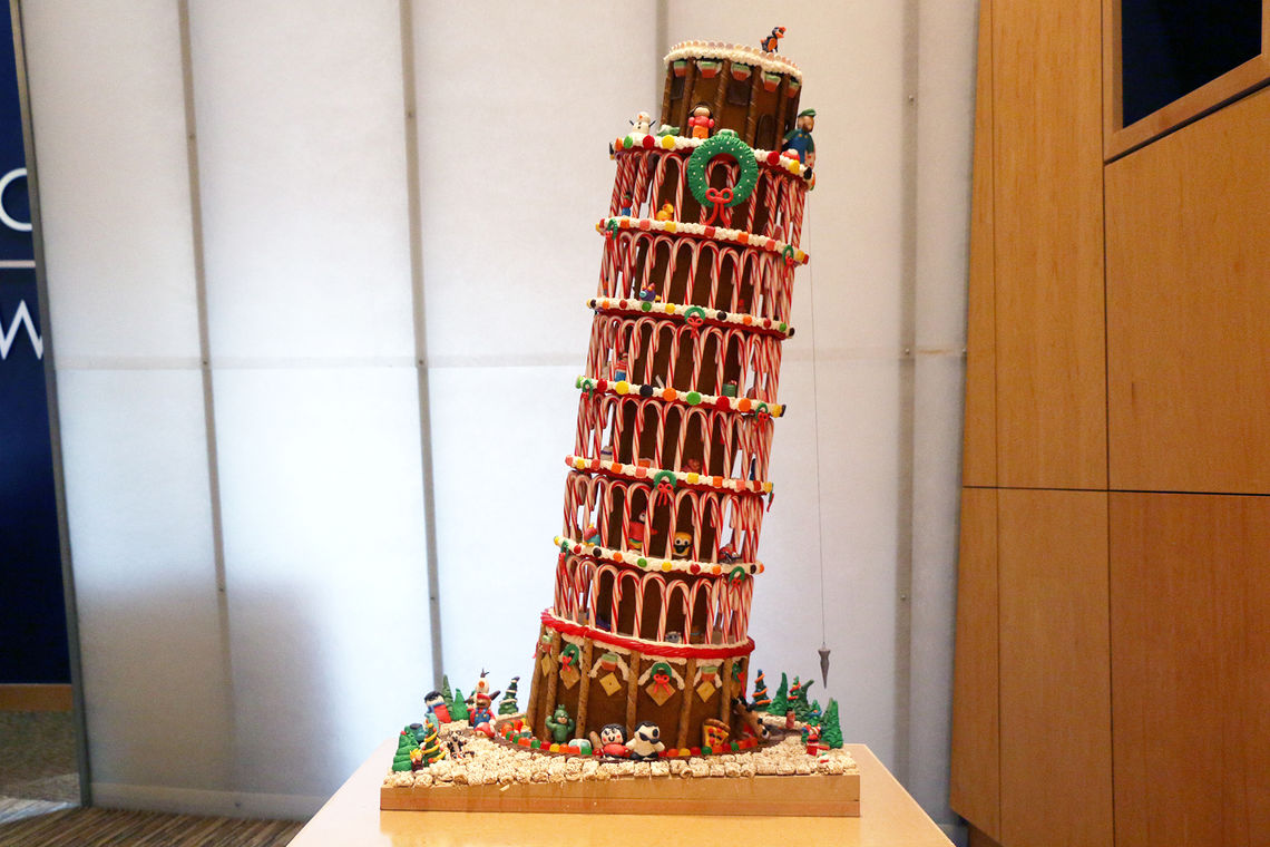 GWWO's Gingerbread Leaning Tower of Pisa Wins Big at Festival of Trees