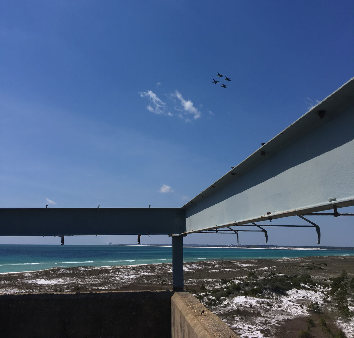 Blue Angels flyover at Gulf Islands National Seashore