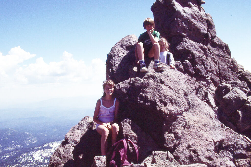 Eric Feiss at the top of Mt. Lassen